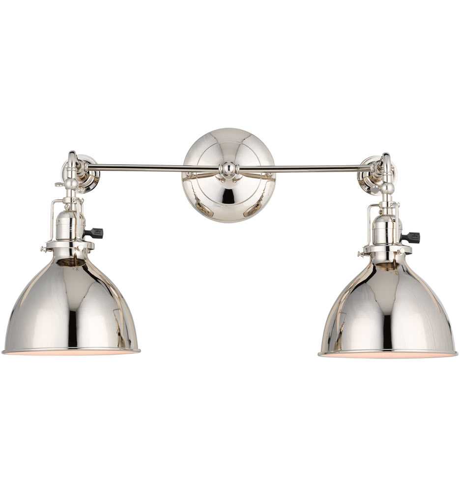 Adjustable Vanity Light Fixtures : Grandview Double Sconce Rejuvenation