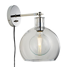 edendale straight plugin sconce