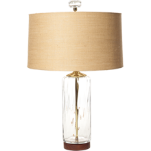 Clear Cylinder Table Lamp