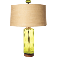 Olive Cylinder Table Lamp
