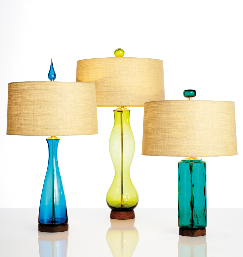 Peacock Cylinder Table Lamp | Rejuvenation