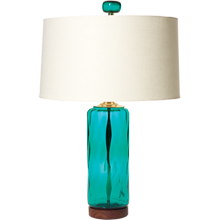 Peacock Cylinder Table Lamp