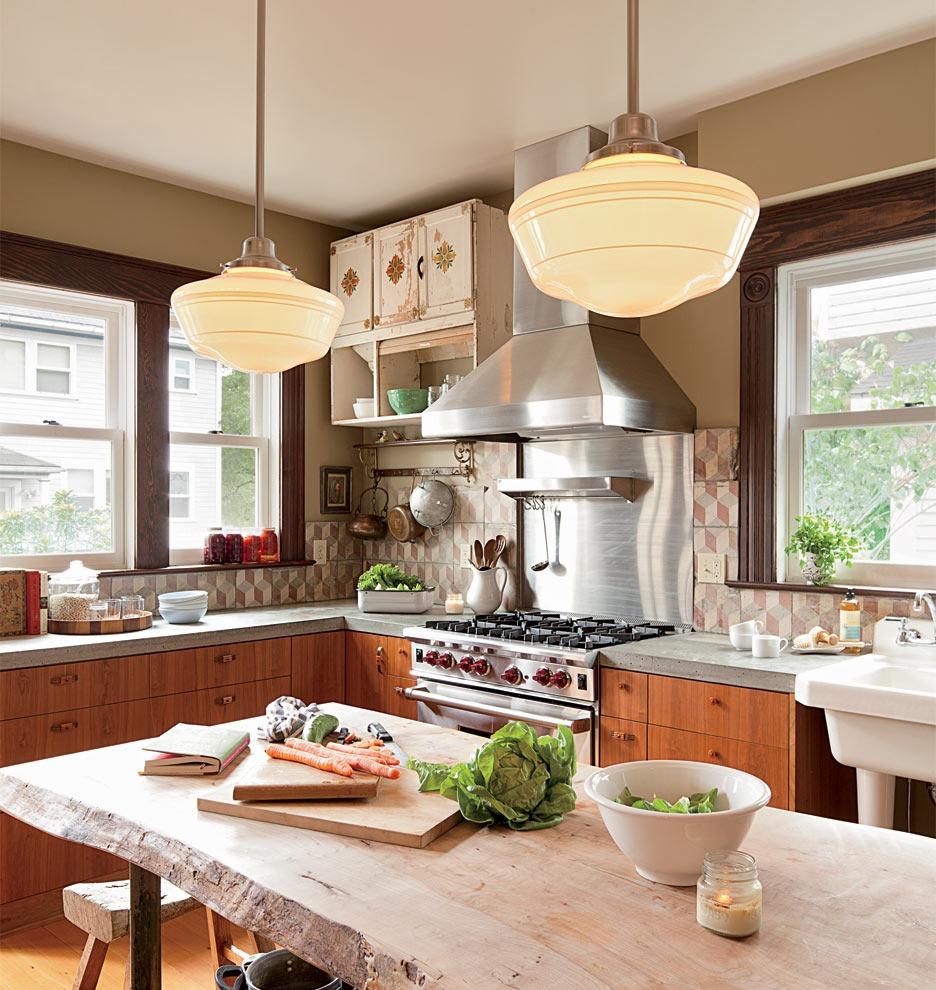 Rose city 6in rejuvenation - Schoolhouse lights kitchen ...