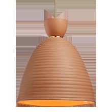 Hazel Large Banded Cone Pendant
