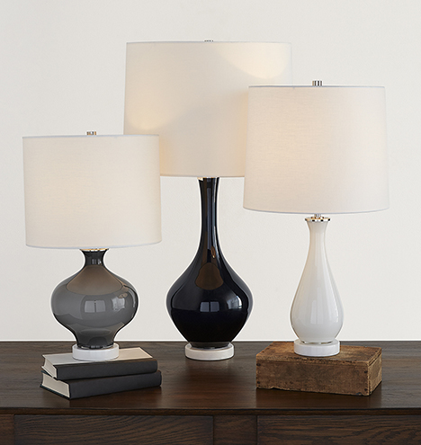 colored glass table lamp gray rejuvenation. Black Bedroom Furniture Sets. Home Design Ideas
