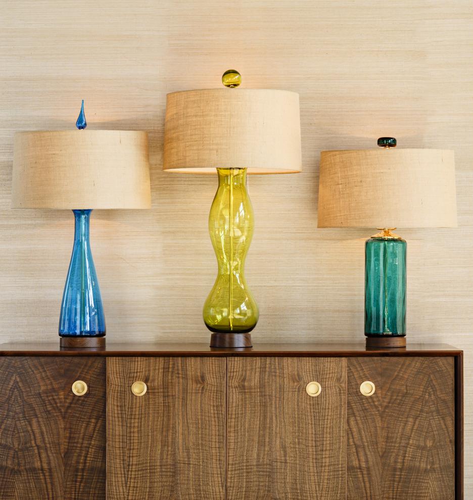 Blenko Handblown Turquoise Carafe Table Lamp Rejuvenation