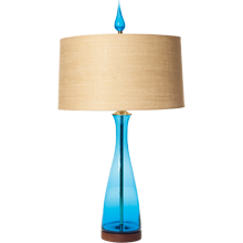 Turquoise Carafe Table Lamp