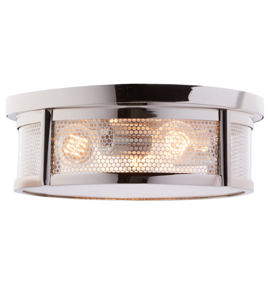 crockett industrial flush mount  rejuvenation - a   a