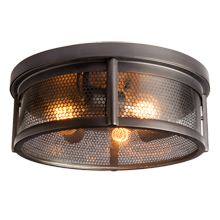 Crockett Industrial Flush Mount