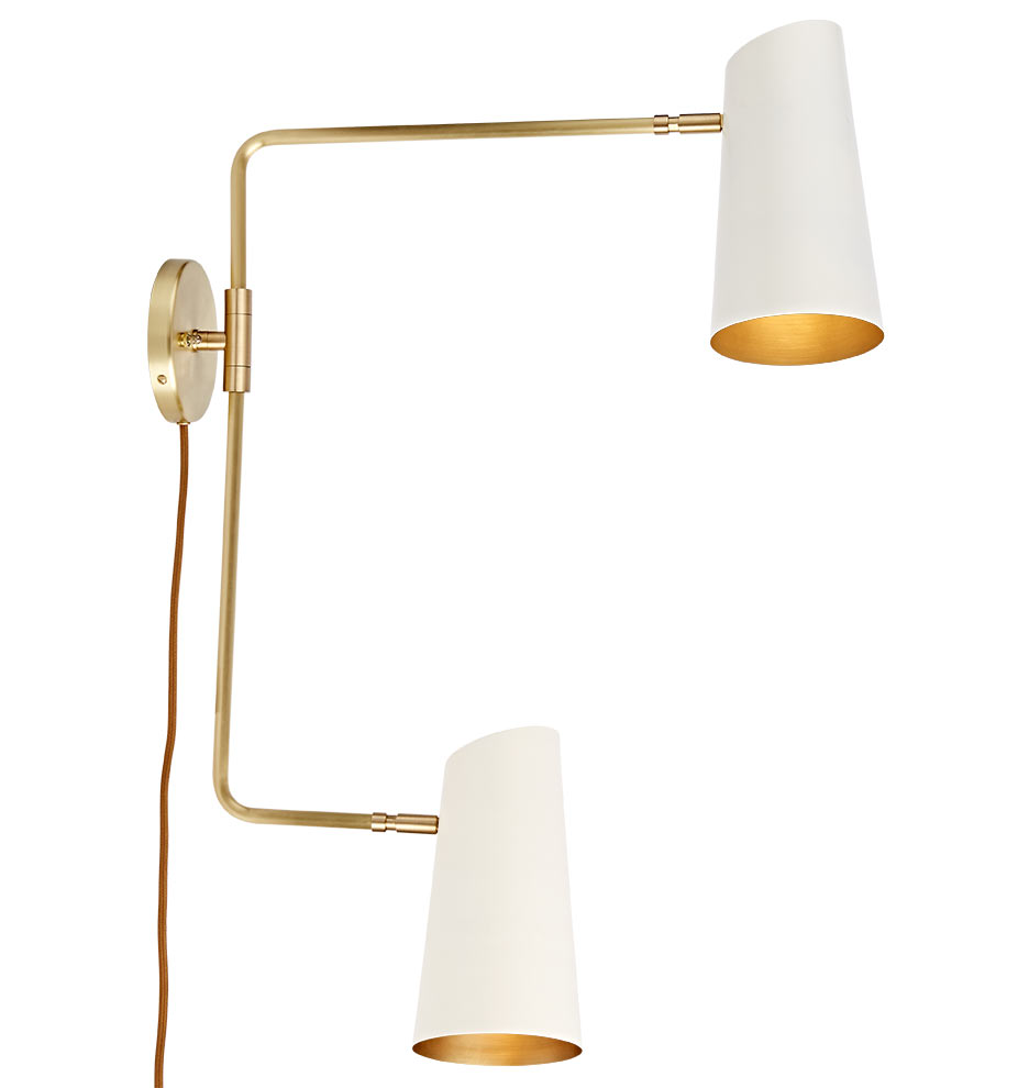 Wall Sconces Swing Arm Plug In : Cypress Double Swing Arm Sconce Plug-In Rejuvenation