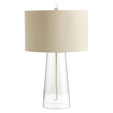 Clear Glass Tapered Table Lamp
