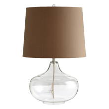 Clear Glass Urn Table Lamp