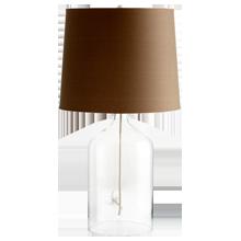 Clear Glass Jar Table Lamp