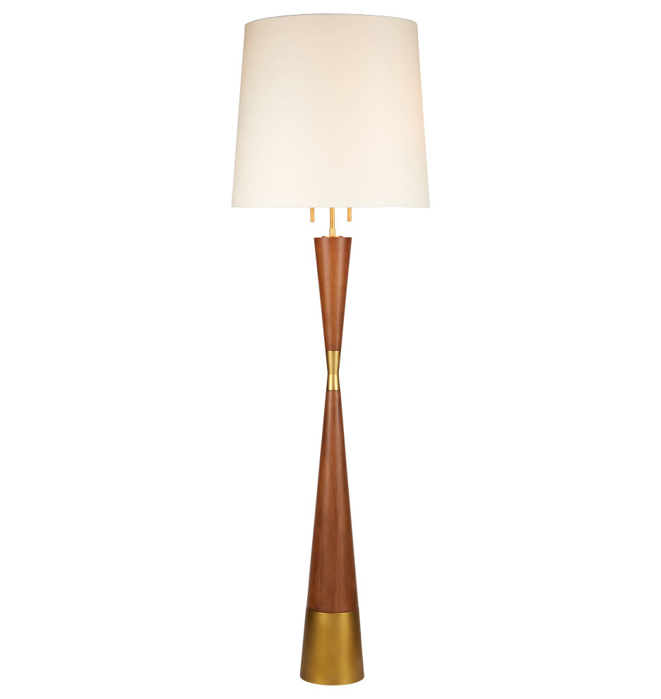 mid century wooden floor lamp rejuvenation