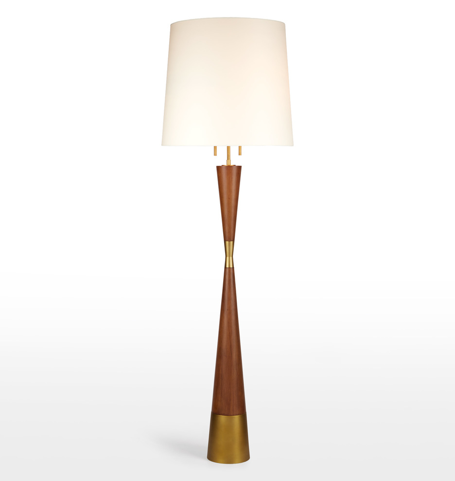 midcentury wooden floor lamp  rejuvenation -  wooden floor lamp a   v a