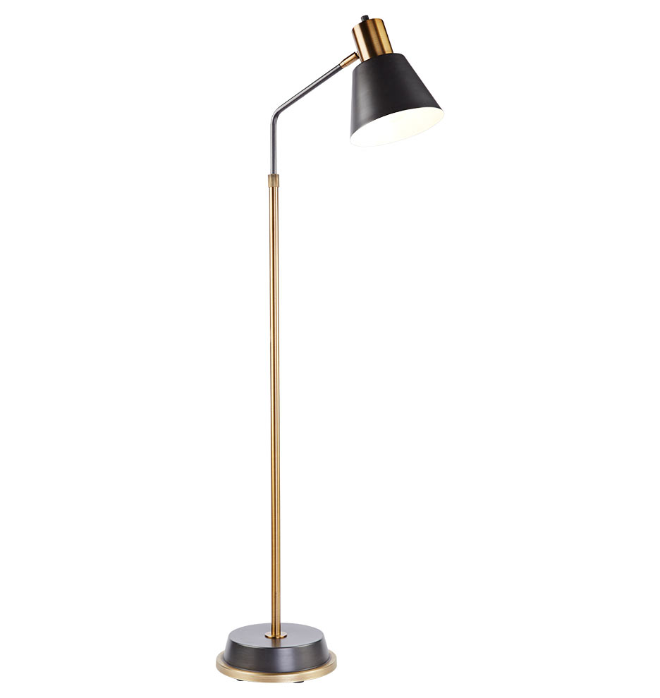 Brass Floor Lamp: ,Lighting