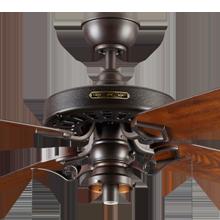 Heron Ceiling Fan with Light Kit Aged Bronze Fumed Oak Blades No Shade