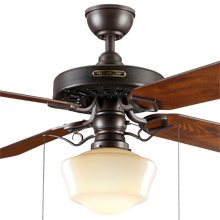 School House Ceiling Fan Light Kit Included Ceiling Fans Ceiling Fans Amp Accessories