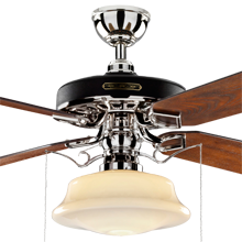 Heron Ceiling Fan with Low Profile Shade