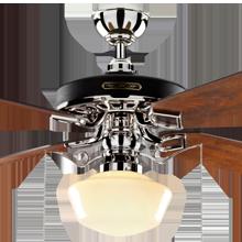 Heron Ceiling Fan with Light Kit Polished Nickel Fumed Oak Blades Classic Opal Schoolhouse Shade