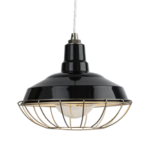 Redland Warehouse Pendant - Black