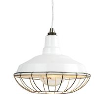 Redland Warehouse Pendant - White