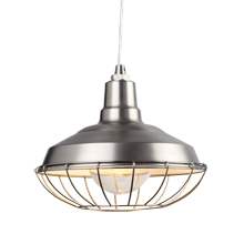 Redland Warehouse Pendant - Brushed Nickel