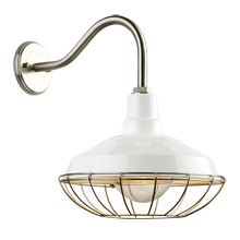Redland Warehouse Gooseneck Sconce - Brushed Nickel