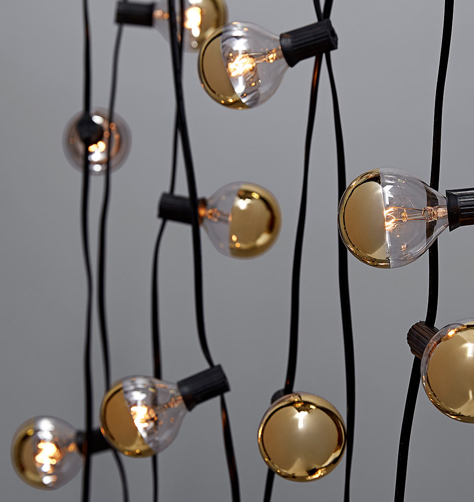 20 Gold Bulb String Lights Rejuvenation