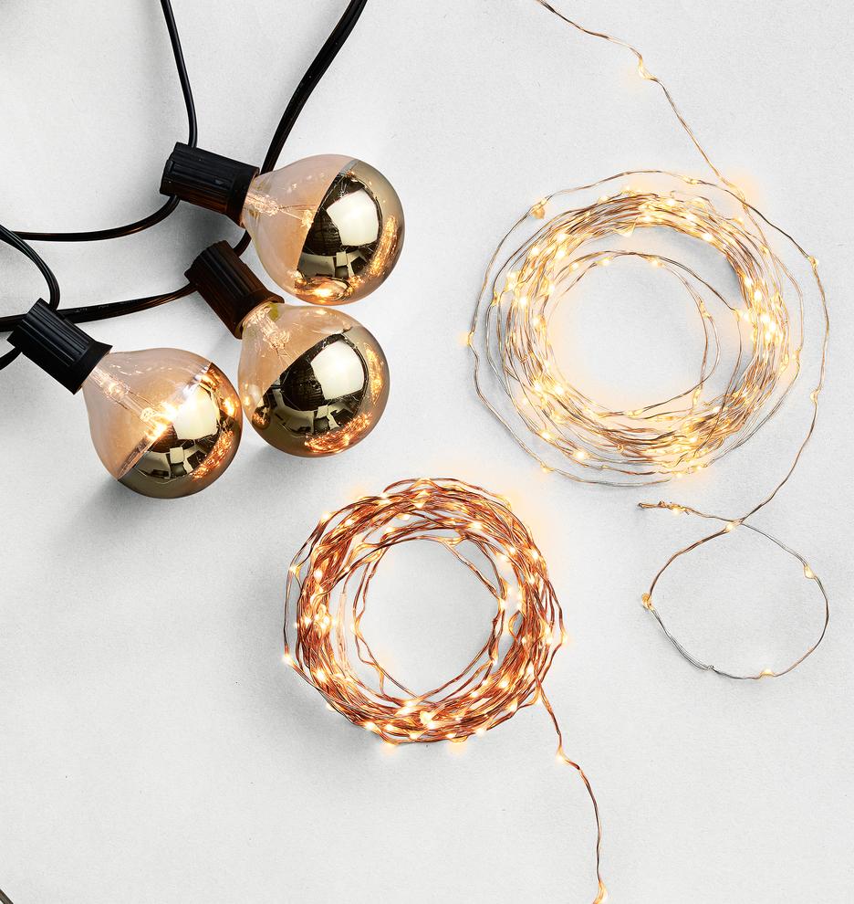 20 Gold Bulb String Lights Rejuvenation