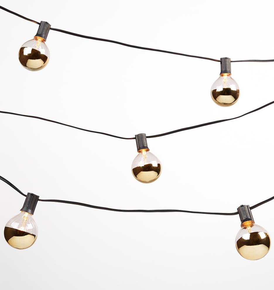 No String Christmas Lights : 20 Gold Bulb String Lights Rejuvenation