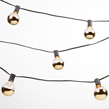 20 Gold Bulb String Lights
