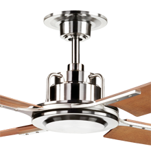 Peregrine Ceiling Fan Brushed Nickel Walnut Brown