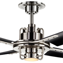 Peregrine Ceiling Fan with LED Brushed Nickel Matte Black