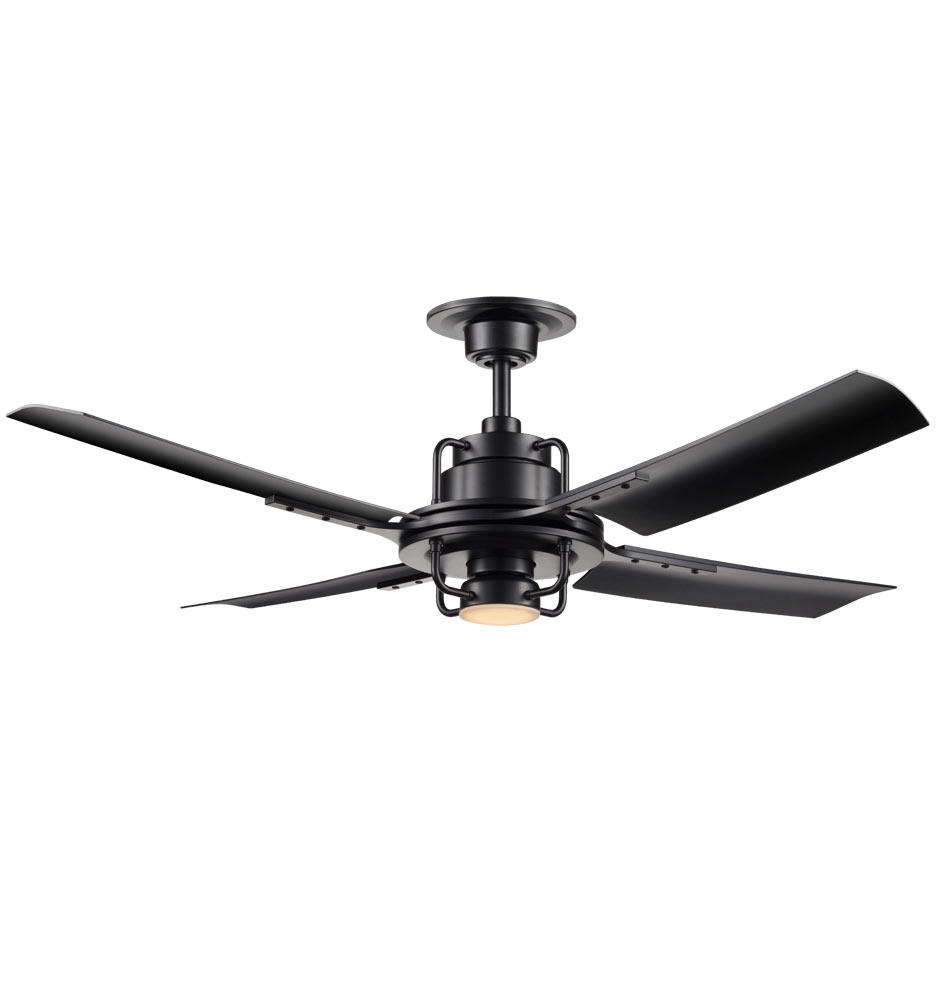 peregrine industrial led ceiling fan - led 4-blade ceiling fan