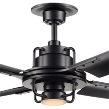 Peregrine Ceiling Fan with LED Matte Black Matte Black
