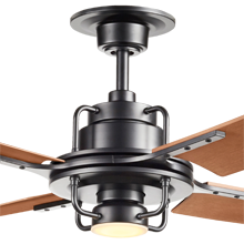 Peregrine Ceiling Fan with LED Matte Black Walnut Brown