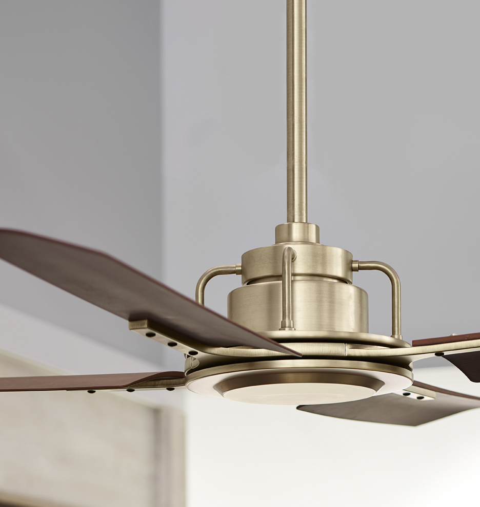 Peregrine Industrial Ceiling Fan - Peregrine Industrial No Light 4-Blade Ceiling Fan : Rejuvenation