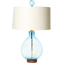 Ice Blue Round Table Lamp