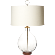 Clear Round Table Lamp