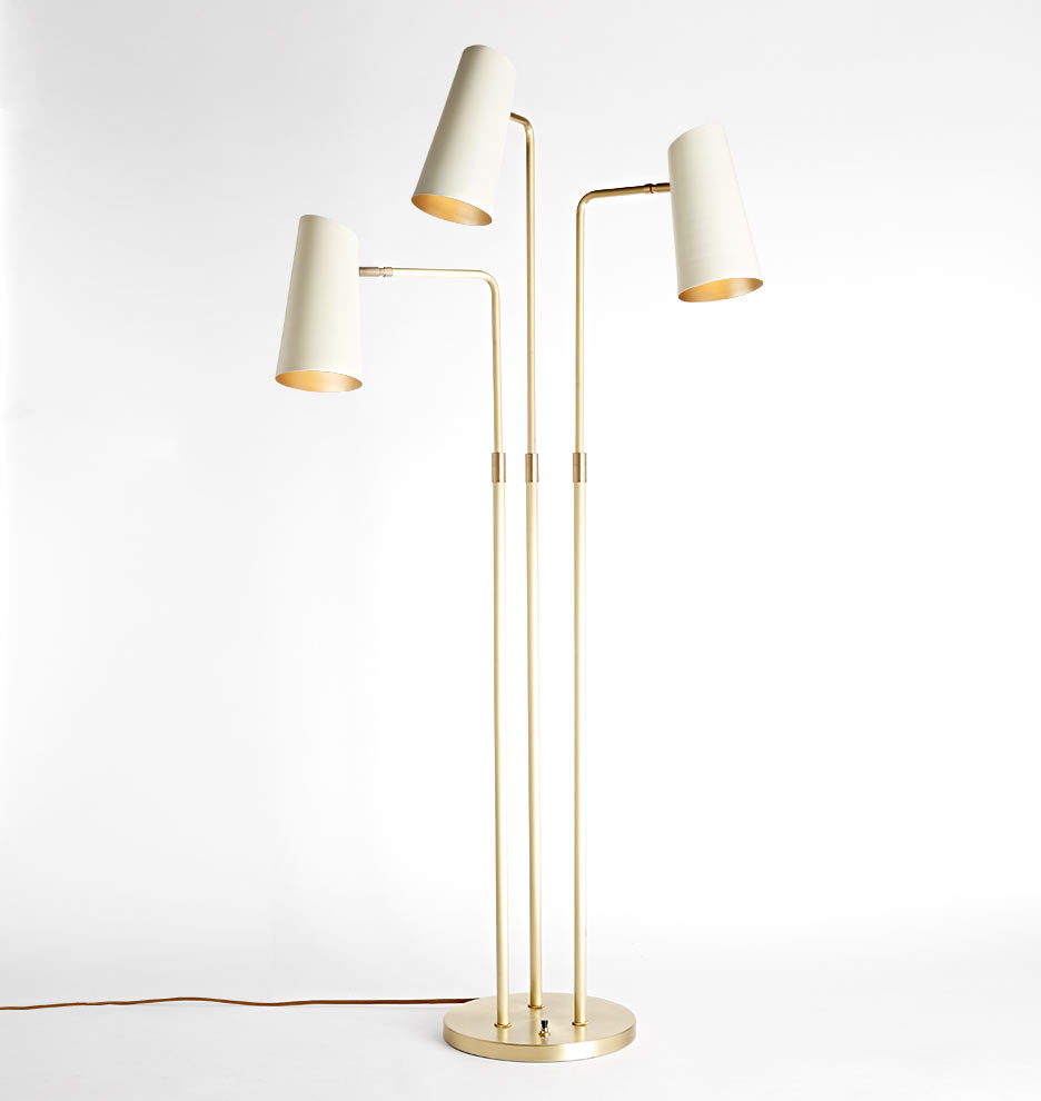 Cypress 3 arm floor lamp rejuvenation aloadofball