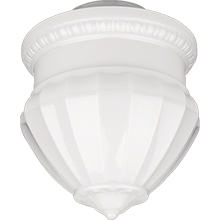 Neoclassical 12in. Opal Acorn Shade