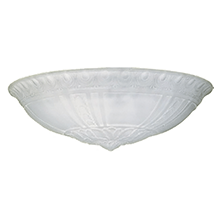 Neoclassical 21in. Frosted Bowl Shade