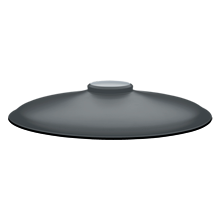 20in. Shallow Dome- Matte Gray