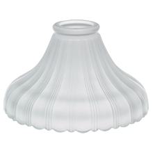 Ribbed Satin Frosted Bell Shade