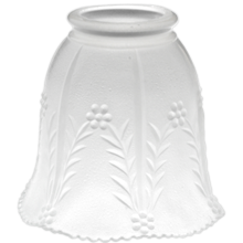 Decorative Pressed Satin Frosted Shade