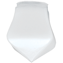 Mission Frosted Teardrop Shade