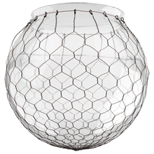 12in. Clear Globe Shade with Wire Mesh