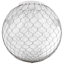 14in. Clear Globe Shade with Wire Mesh