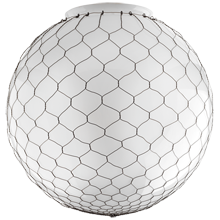 18in. Opal Globe Shade with Wire Mesh